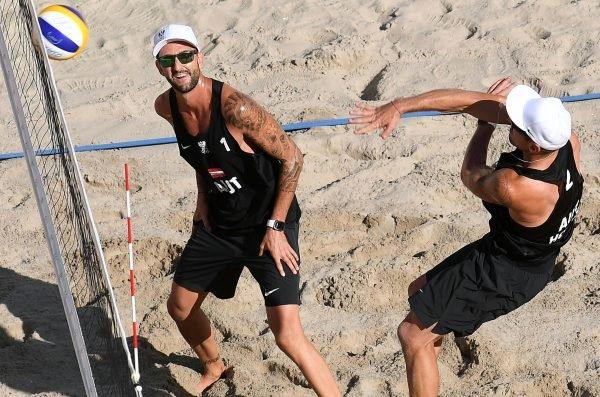 Österreichs Beach-Volleyball-Asse Clemens Doppler (l.) und Alexander Horst.