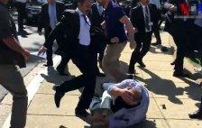 Erdogans Bodyguards prügeln auf Kurden ein