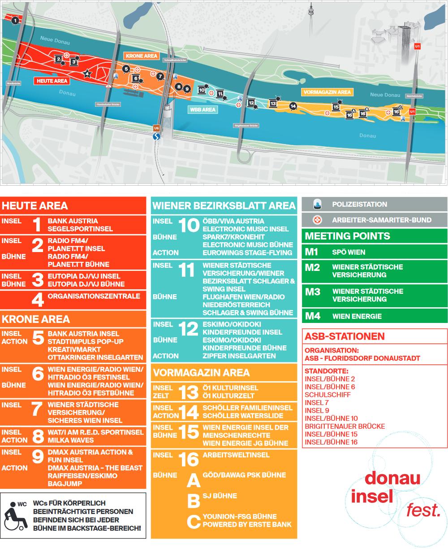 donauinselfest plan 2017 alle b 252 hnen und stationen