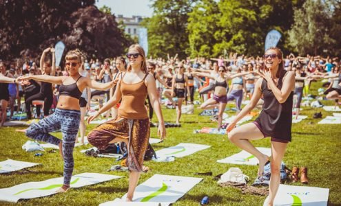 JOYA Yoga Convention 2017: Open-Air-Yoga-Session im Wiener Augarten