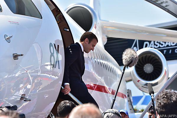Macron im Höhenflug