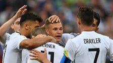 Deutschland und Chile im Confed-Cup-Halbfinale