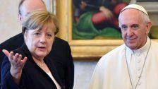 Papst Franziskus empfing Merkel zu Privataudienz