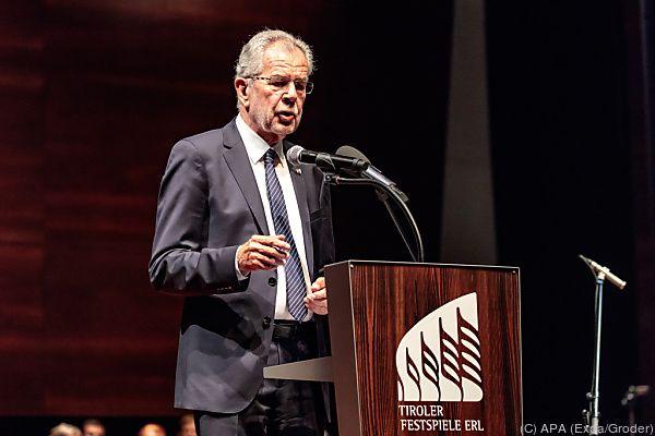 Bundespräsident Van der Bellen hielt die Eröffnungsrede