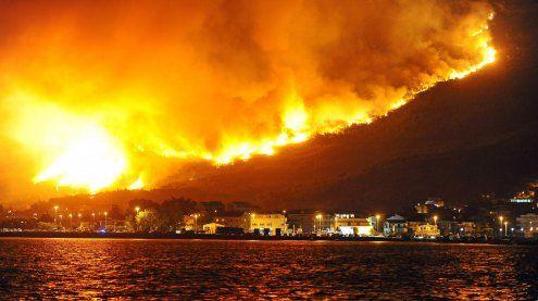Waldbrände im kroatischen Split