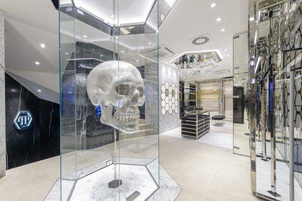 Im neuen Philipp Plein Store in Wien