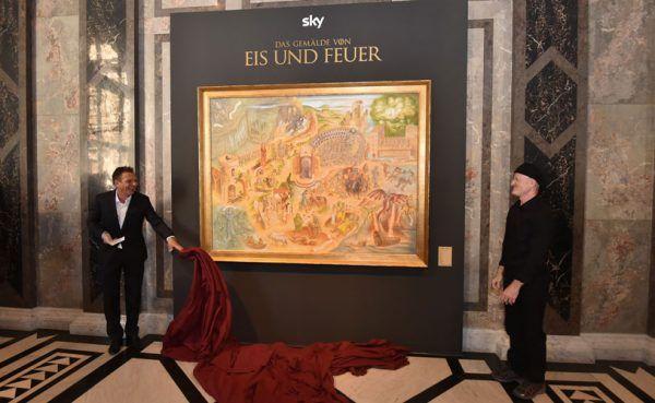 Das Game Of Thrones-Gemälde in Wien - nur für kurze Zeit.