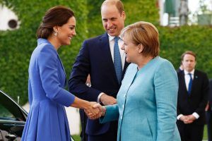 Prinz William und Herzogin Kate am Brandenburger Tor