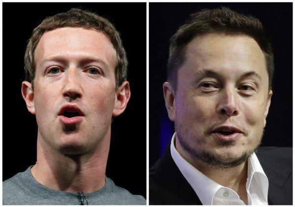 FB-Chef Mark Zuckerberg und Tesla-Chef Elon Musk sind sich nicht einig, wenn es um die Gefahren von künstlicher Intelligenz geht.