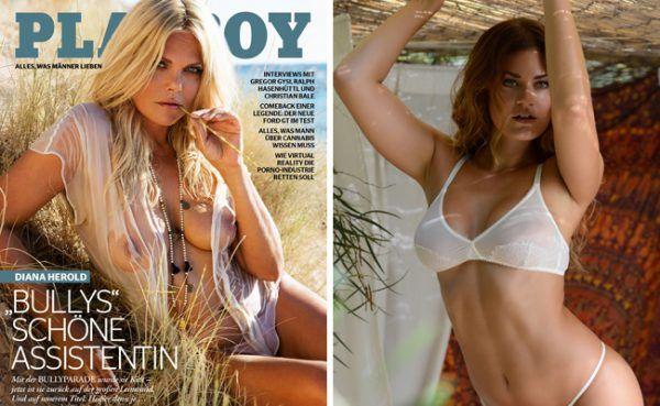 Diana Herold und Playmate Christina Braun in der September-Ausgabe des Playboy.