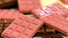Neue Schöpfung: Rosa Schweizer-Schokolade