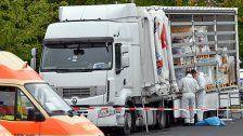 Lkw mit 51 Flüchtlingen im Laderaum gestoppt