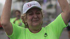 Brasilianerin mit Herz von Olympioniken rennt