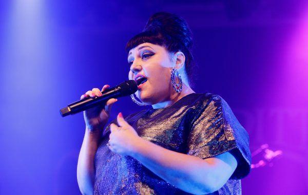 Die amerikanische Sängerin Beth Ditto bei ihrem Konzert in der Arena in Wien