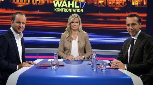 ORF-Duell zwischen Kern und Strolz: Wenige Gemeinsamkeiten