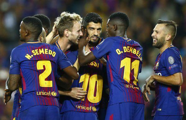 Barcelona durfte zum CL-Auftakt gegen Juventus Turin gleich mehrfach jubeln.