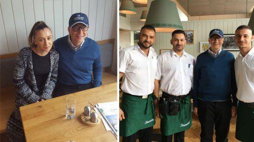 Bill Gates auf Besuch in Wien: Ein Steak und Kaffee im Strandcafé