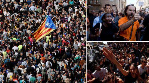 Wut auf Kataloniens Straßen - Stimmung kippt nach Razzien
