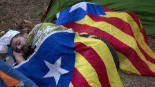 Demonstranten starten Zeltlager in Barcelona