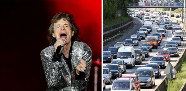 Bei der Anreise zu den Rolling Stones ist massiver Stau zu erwarten