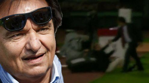 Mega-TV-Eklat: Fußball-Präsident schlägt Ex-Nationalcoach nieder