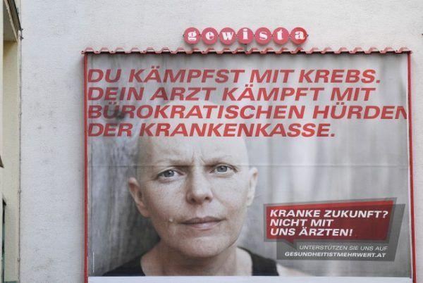 """""""Provokation gegen Ignoranz"""": Ärztekammer verteidigt Krebs-Kampagne."""