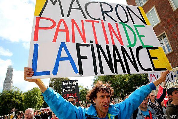 Wut richtet sich gegen Regierung Macron