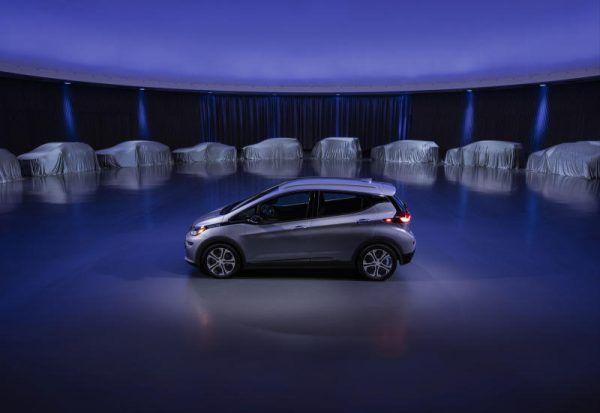 General Motors testet ihren selbstfahrenden Chevrolet Bolt in Downtown Manhattan.
