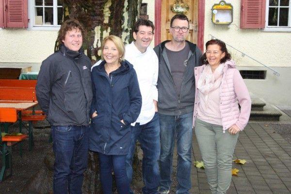 Claudio, Martina, Roland, Wolfgang und Elvira freuen sich auf das Herbstfest in Rankweils Gastgärten