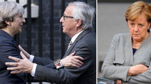 Brexit: Merkel reagiert wütend auf Juncker-Abendessen mit May