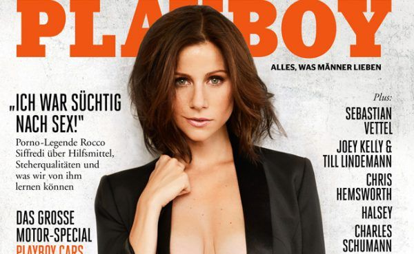 Schauspielerin Katrin Heß ziert das Cover des deutschsprachigen November-Playboy.