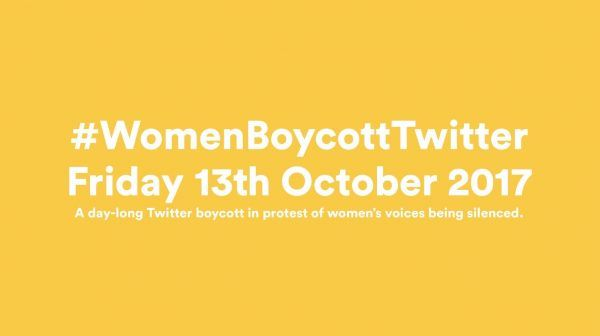 Am heutigen 13. Oktober protestieren Frauen gegen Twitter.