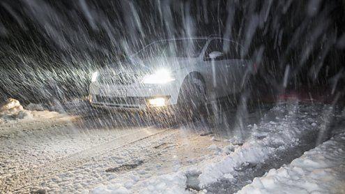 Über Nacht: Schnee bis ins Tal
