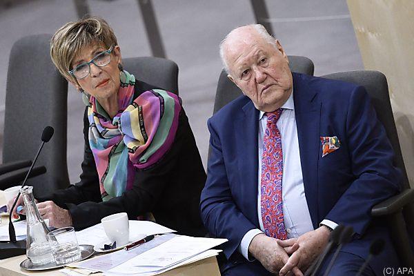 Seniorenratspräsidenten Ingrid Korosec (ÖVP) und Karl Blecha (SPÖ)