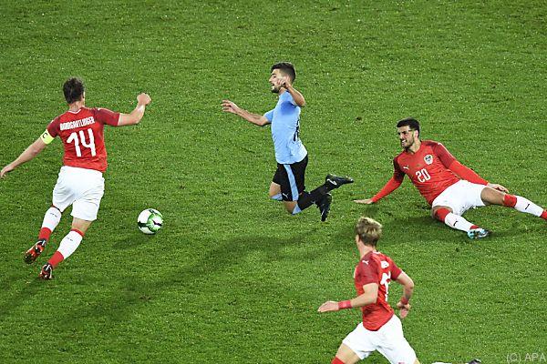 Das ÖFB-Team beschloss das Länderspieljahr mit einem 2:1 gegen Uruguay