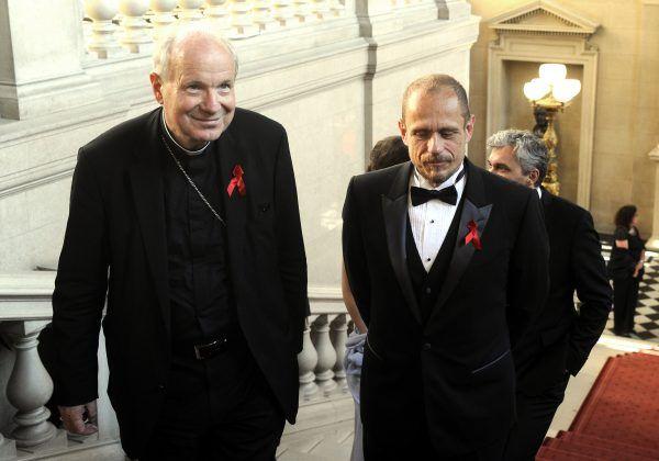 Kardinal Christoph Schönborn (l.) und Life Ball-Organisator Gery Keszler laden in den Stephansdom