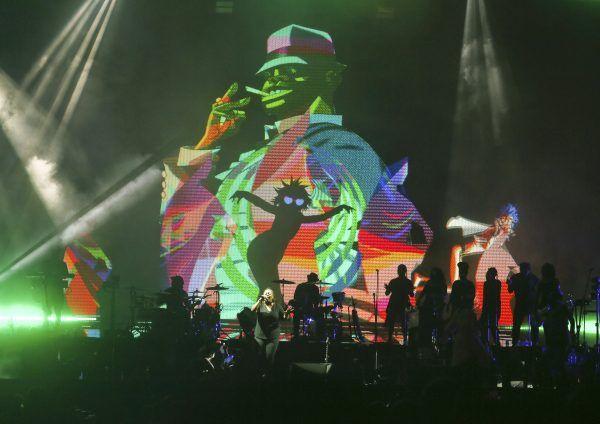 Die Gorillaz rockten zum ersten Mal in ihrer Karriere die Wiener Stadthalle.