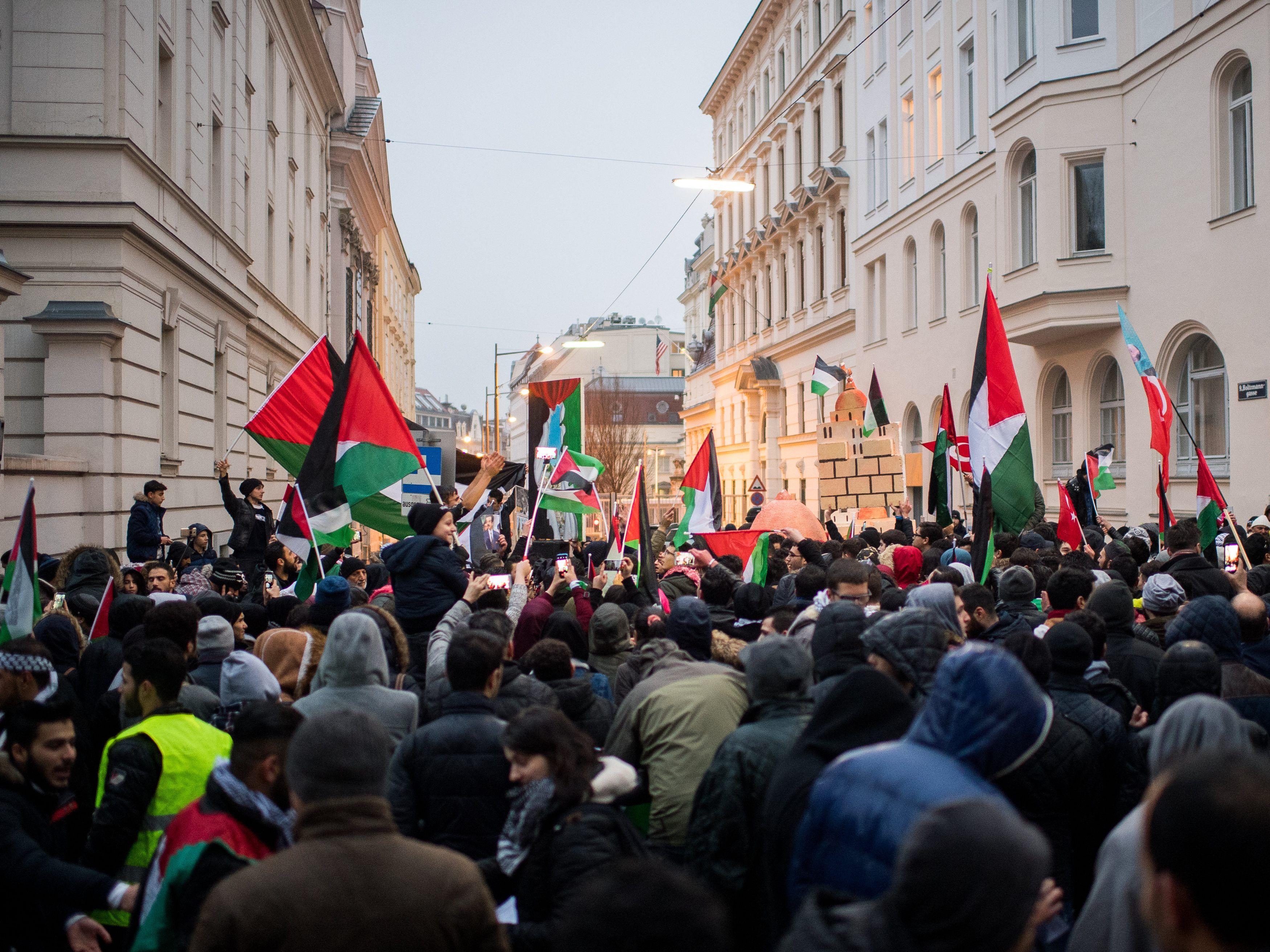 Demo Wien Photo: Jerusalem-Demo In Wien: Erneute Kundgebung Vor US