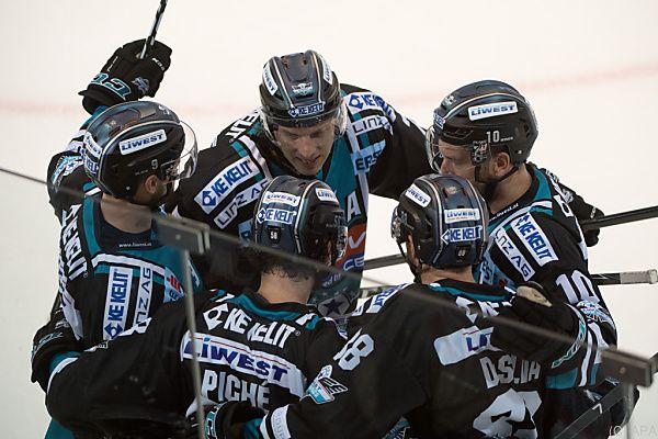 Die Black Wings Linz sind der Sieger der Runde