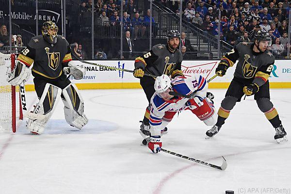 Das neue Team aus Las Vegas brachte auch die Rangers zu Fall