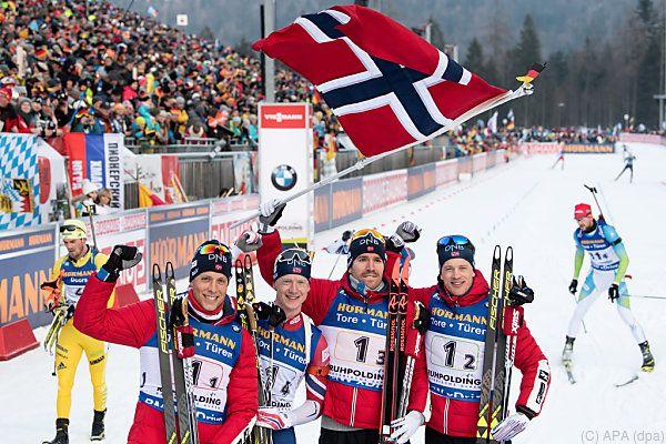 Siegreiche Norweger