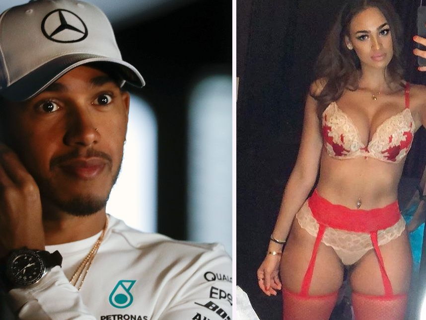 Lewis Hamilton war mit Model Veronica Valle liiert.