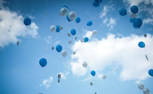 Glückwunsch-Luftballon flog von Italien ins Mühlviertel