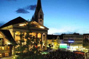 Großes Public Viewing in Dornbirn