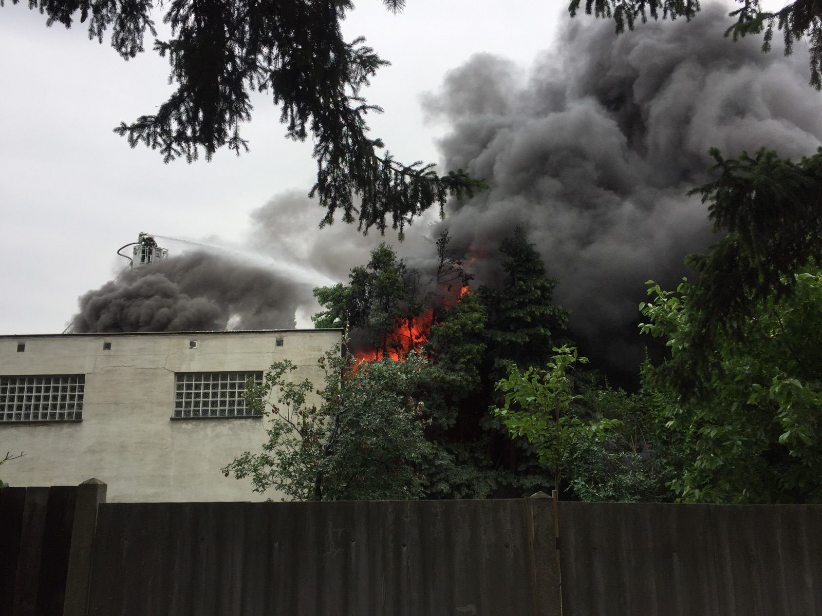 Die Lagerhalle in Wien-Favoriten stand am Donnerstag in Vollbrand.