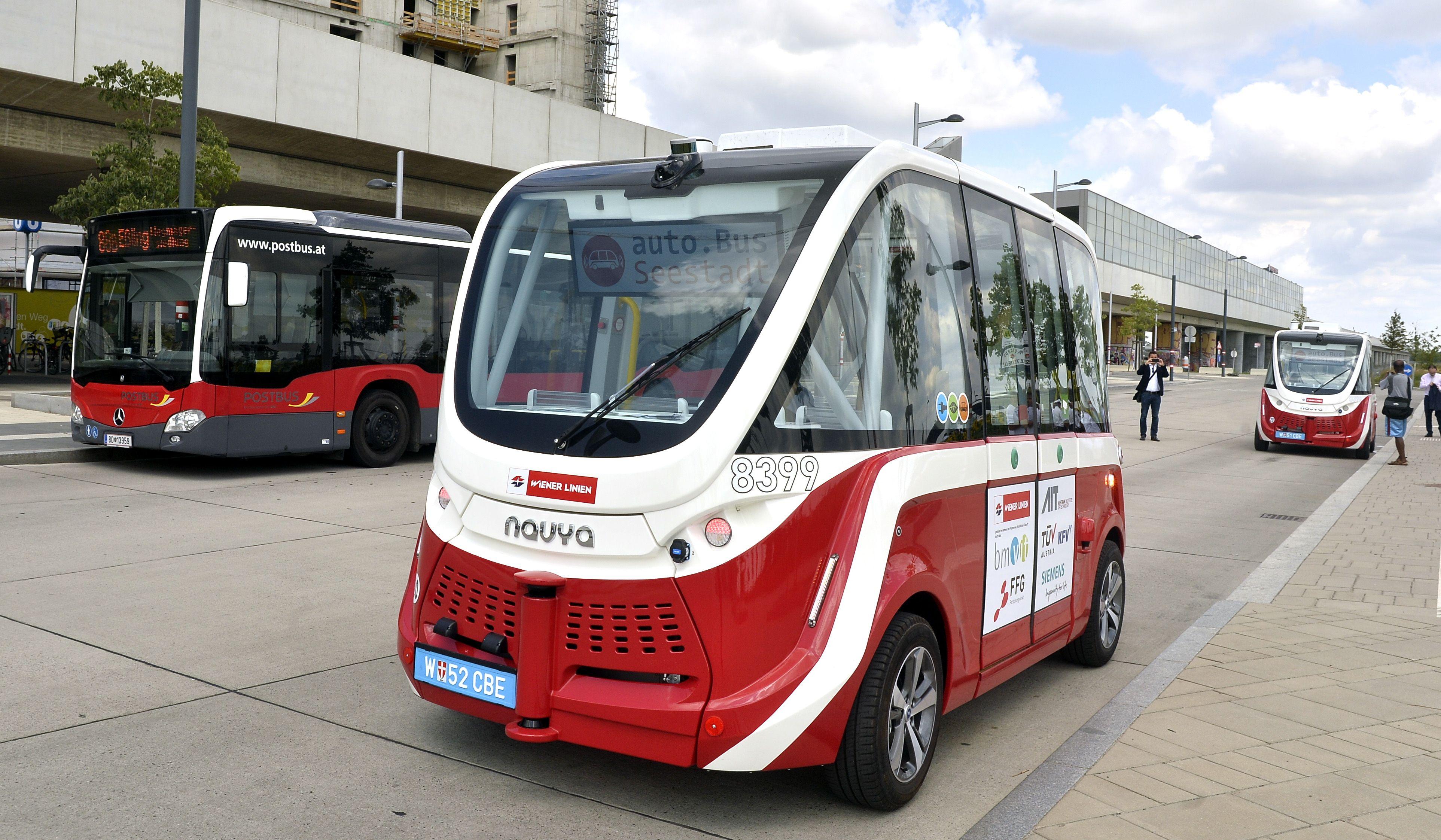 Wiener Linien: Fahrerlose Busse in Seestadt unterwegs