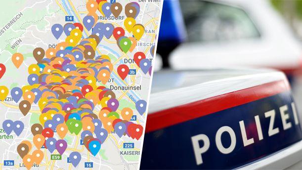 Crime Map für Wien: Delikte im Überblick