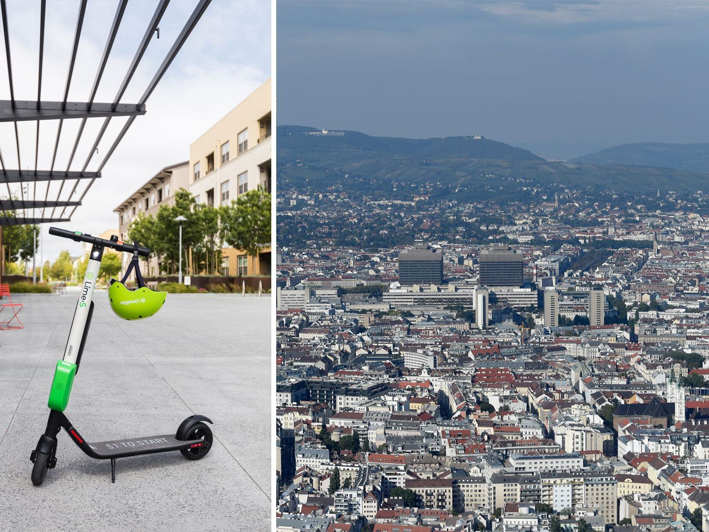 """Lime"" startet sein E-Scooter-Sharing in Wien."