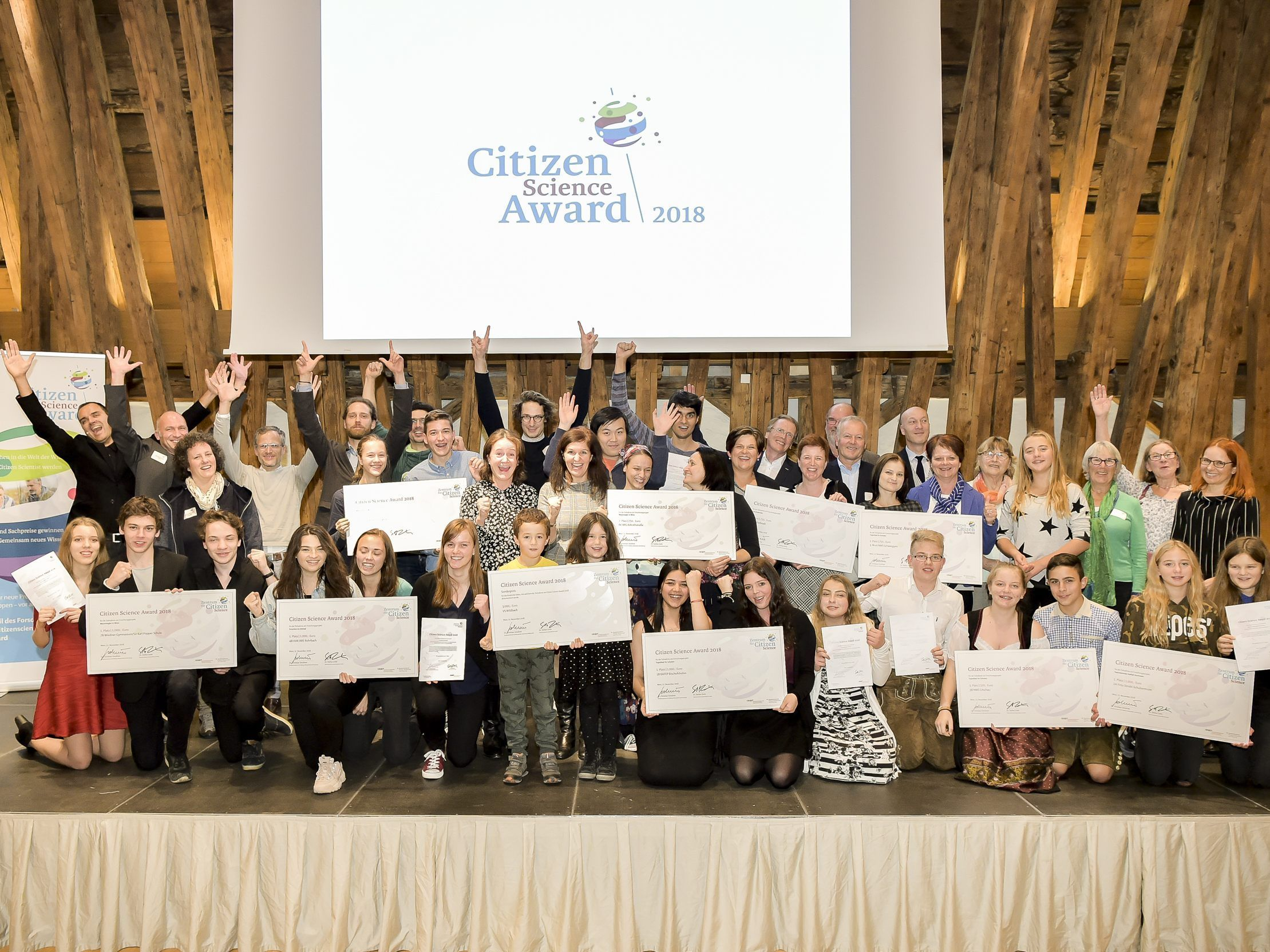 Die Gewinner des Citizen Science Award 2018.