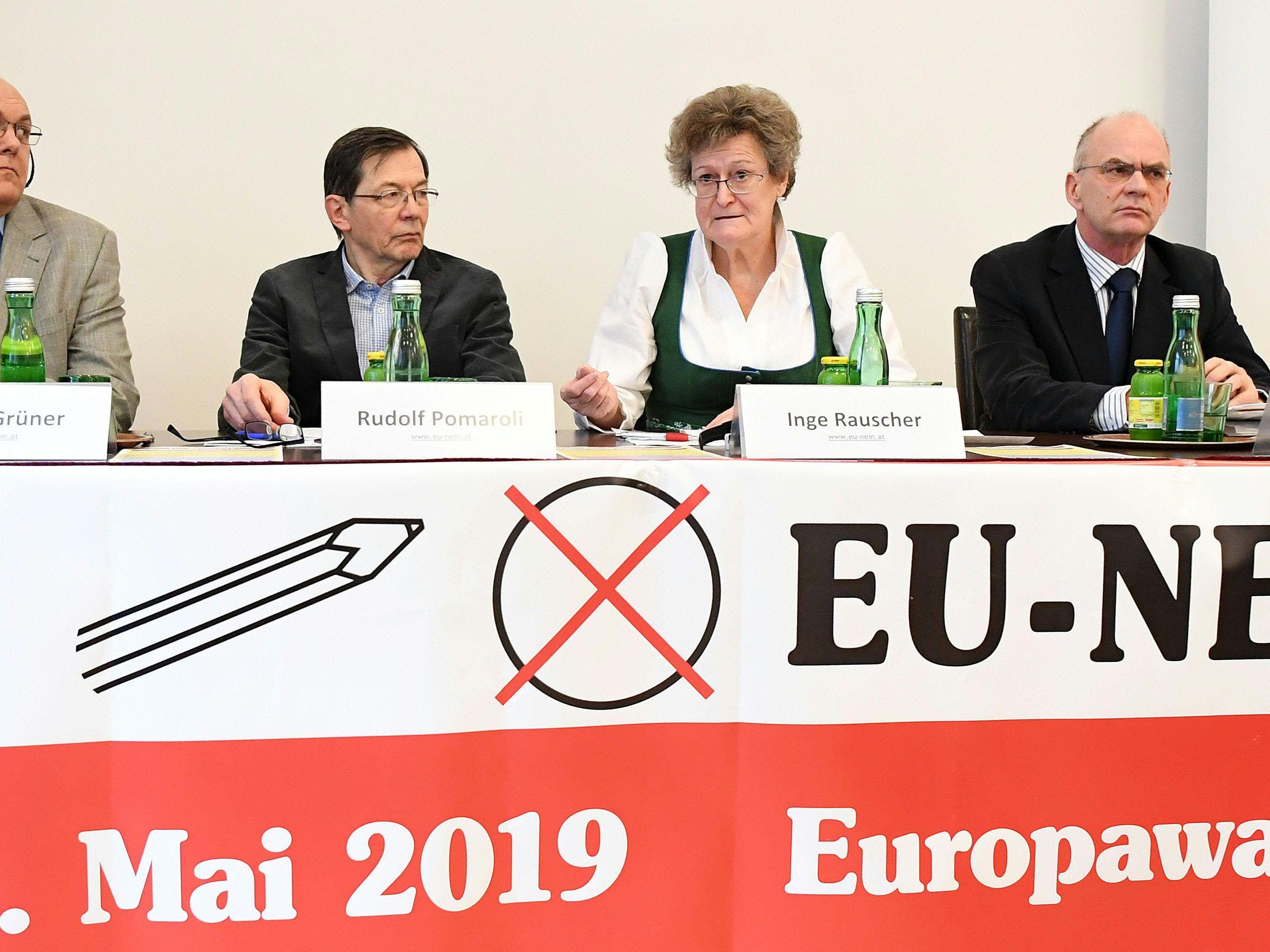 """EU-NEIN"" will ins Europaparlament einziehen."